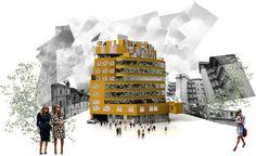 Enric Miralles Collage Embt enric miralles - benedetta tagliabue arquitectes