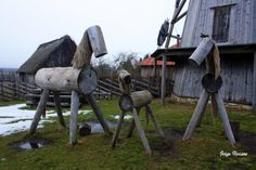 Wood horses, Estonia