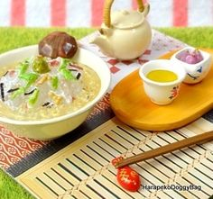 Re-ment / Rement : Japanese Dollhouse Toys : Japanese Seasonal Food #6 - Miniature Salmon Ochazuke