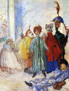 James Ensor - This man has the most beautiful arrangement of figures and colors, hard to believe you can combine such bright and dark reds with soft pastels