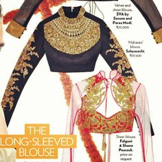 long sleeved blouse with sarees