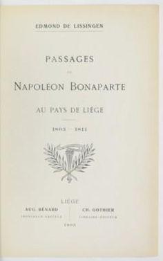 Napoléon en Belgique / napoleonbonaparte.be