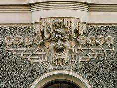 Architectural detail, Art Deco, Riga, Latvia