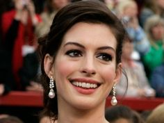 Hot shots of celebrity brunettes! Wedding Hair And Makeup, Hair Makeup, Ponytail Updo, Access Hollywood, Hot Shots, Anne Hathaway, Gorgeous Makeup, Updos, Wedding Hairstyles