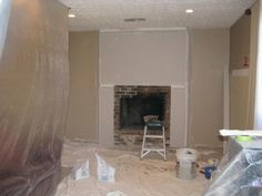 Before and After Fireplace Photos - Add space and value to your home - Remodeled Brick Fireplace