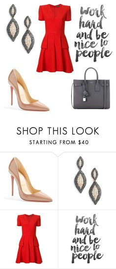 """""""278"""" by bellonyflorenzano ❤ liked on Polyvore featuring Christian Louboutin, Elise M., Alexander McQueen and Yves Saint Laurent"""