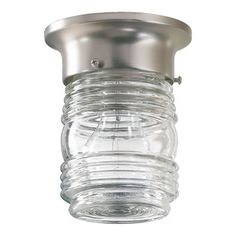 You'll love the 1 Light Jelly Jar Semi Flush Mount at Wayfair - Great Deals on all  products with Free Shipping on most stuff, even the big stuff.