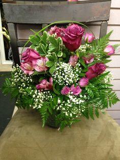 Roses, alstroemerias, Pitt #cedarhousefng