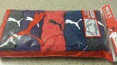 Mens PUMA BRIEFS 5 Pack LOW RISE Sport Underwear SMALL Grays Blue Red Purple NWT #Puma #LowRiseBriefs