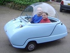 The Peel Trident was the second three-wheeled microcar made by the Peel Engineering Company on the Isle of Man. It was manufactured in 1965 and The Trident featured a clear bubble top and eit… Strange Cars, Weird Cars, Microcar, Pt Cruiser, Smart Car, S Car, Car Makes, Unique Cars, Cute Cars