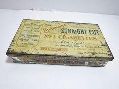 Vintage Allen & Ginter Richmond Cigarette Tobacco Tin Straight Cut No. 1