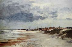 British Paintings: Edward Seago - Gathering Storm, Suffolk Coast