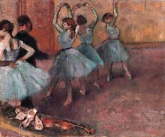 Danseuses bleutées (La répétition au foyer de la danse)-Edgar Degas