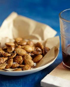 Deep Fried Almonds via Sweet Paul Nut Recipes, Almond Recipes, Delicious Recipes, Sweet Paul, Incredible Edibles, Good Food, Fun Food, Delish, Food And Drink