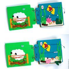 Мягкая развивающая книжка из фетра Панда – купить в интернет-магазине на Ярмарке Мастеров с доставкой