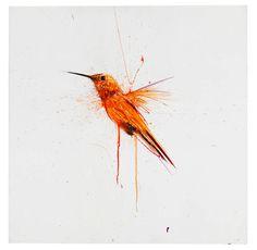 Dave White - Watercolour Hummingbird