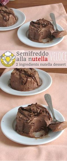 Solo 2 ingredienti e 5 minuti… Semifreddo alla fast, very fast indeed! Only 2 ingredients and 5 minutes of preparation for a soft and creamy spoon, to keep in the freezer at all times! Easy and quick Nutella Nutella Mousse, Nutella Brownies, Cheesecake Recipes, Cookie Recipes, Dessert Recipes, Sweet Tarts, Pie Dessert, Flan, Bonbon
