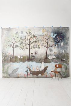 Enchanted Forest Mural - Wouldn't this wallpaper just be a dream come true in a nursery!?!