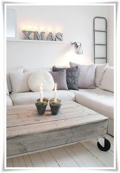 #interior #decor #styling #Christmas #natural #Scandinavian #white #grey #wood #flowerpot #moss #candle #living