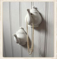 Tea Pot Hook - really unique idea from Vintage Amethyst (inspiration) - #tea #pot #teapot #hook #hanger #upcycle #repurpose - tå√