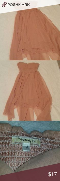 A'GACI Asymmetrical Strapless Maxi Dress, Pink Asymmetrical strapless maxi dress purchased from A'GACI and worn only once. In excellent condition. Although the tag says 'small', I feel as though the dress runs a bit on the bigger side, especially in the bust area. a'gaci Dresses Maxi