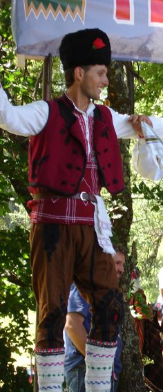 Traditional festive costume from the Pirin region (Bulgarian Macedonia). Clothing style: early 20th century.