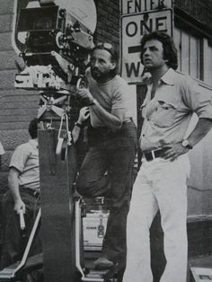 Cinematographer Vilmos Zsigmond & Director Michael Cimino on location during the making of 'The Deer Hunter' (1978)