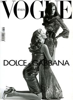 Brazilian stunner Isabeli Fontana and Duch beauty Lara Stone: VOGUE ITALIA by lenouveau Black and White
