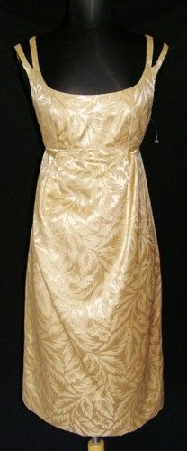 DONNA MORGAN Gold Brocade Metallic Empire Dress 4 NEW NWOT Party Evening Holiday.  On sale!  $42.49