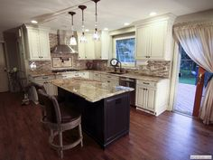 Off White Kitchen off white kitchen cabinets, wood floors, wood table - google