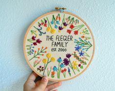 Wedding Embroidery Hoop Custom Marriage by BreezebotPunch