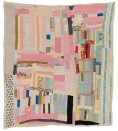 Amelia Bennett, Blocks and strips, c. 1965, Cotton, 84 x 79 inches