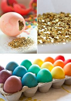 YEAH! I LOVE THIS! - You could even do this with plastic eggs and all colors of glitter! My girls would have loved this when they were little! :)