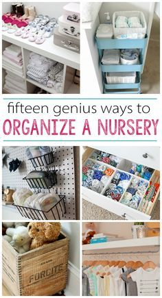 15 Nursery Organization Ideas - great resource for new parents Baby nursery organisation and storage ideas. Baby Nursery Organization, Room Organization, Organize Nursery, Organizing Baby Stuff, Organizing Baby Dresser, Organize Baby Clothes, Baby Bottle Organization, Diy Clothes, Babies Clothes