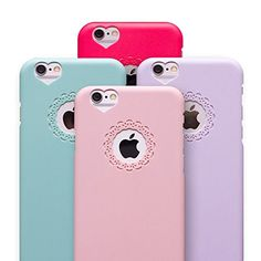 """iPhone 6 Case, Girly Heart Ornamental Case Ultra Thin Fit Cover for iPhone 6 4.7"""" with Screen Protector, Purple. Cute girly decorative pattern cover. Delicate, light-weight with pefect fit. Designed for Apple iPhone 6 4.7"""" / iPhone 6 Plus 5.5"""". USA seller - FREE shipping & handling same day!. FREE Screen Protector."""
