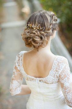 Leaf Braut Haar Stifte Blattgold Hochzeit von AnnAccessoriesStudio