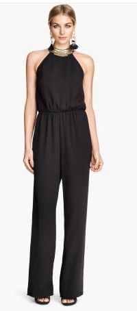 H&M Beaded Jumpsuit Love great outfit for end of the year party Look Fashion, Fashion Outfits, Fashionable Outfits, Fashion Ideas, Party Frocks, Women's Flares, Black Jumpsuit, Trousers Women, Spring Summer Fashion