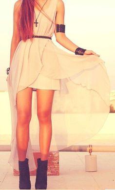 Vanilla High-Low Dress ♥