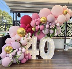 Wonderful Cost-Free Birthday Decorations Thoughts You don't need to use an enclosed artist to manufacture a massive record pictures upcoming party. 40th Birthday Balloons, 30th Birthday Parties, 40th Birthday Themes, Wedding Parties, Anniversary Parties, 31 Birthday, Elegant Birthday Party, Happy 40th Birthday, Birthday Sayings