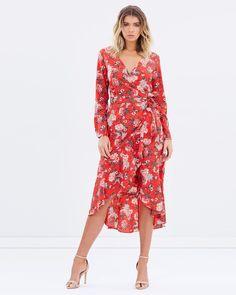 Va Va Voom Red Regali Wrap Dress #affiliate