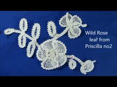 Irish Crochet Lace, leaf of Wild Rose Motif - YouTube