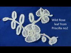 Irish Crochet Lace, leaf of Wild Rose Motif - YouTube