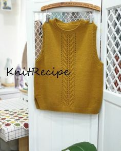 Knit Vest, Knitting Projects, Knit Crochet, Crochet Patterns, Pullover, Sewing, Clothes, Knits, Tops
