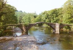 The Packhorse Bridge over the river Ribble, known locally as Cromwell's bridge, as he is reputed to have used it during the English civil war. Photograph Roy A Higgins.
