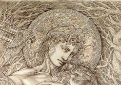 ©Pasquale Abbatiello 700X1000 Mm. Graphite, pencil and white chalk on Ingres paper (detail)