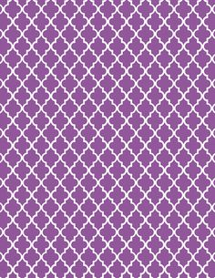 Purple moroccan tile print