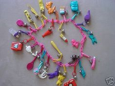 plastic charm necklace