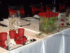 Solteiras Noivas Casadas: Decoração do Casamento: Vermelho e Branco 1