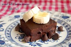 gluten-free peanut butter banana brownies out of common ingrediants!