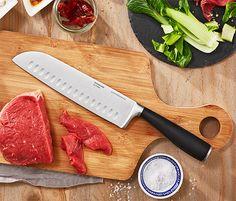 Prvotřídní nůž šéfkuchaře Kitchen Knives, Bamboo Cutting Board, Food, Meals